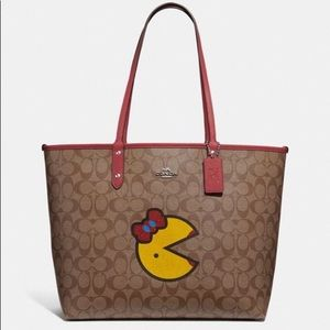 NWT COACH F72900 REVERSIBLE CITY TOTE MRS. PAC MAN